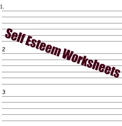 self esteem worksheets