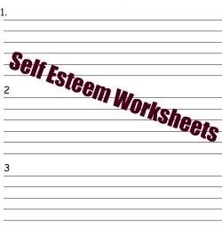Self Esteem Worksheets
